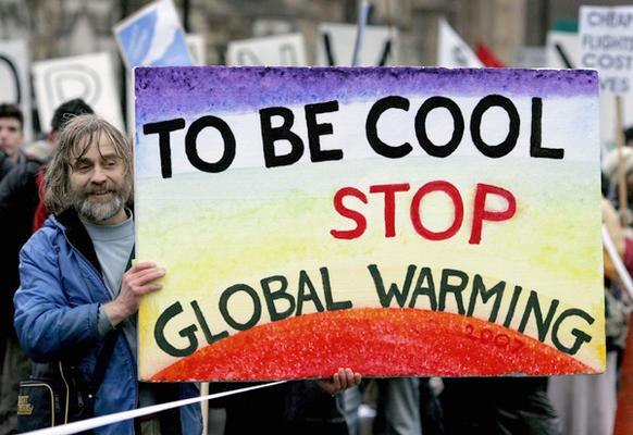 A climate protester in London.