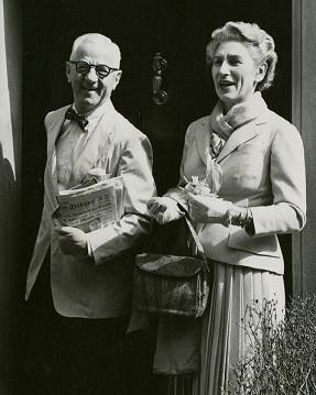 Philanthropist J.M. Kaplan and his wife, Alice.