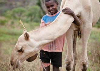 Dhadacha Golicha, 11 yrs old with camel, Boba, Ethiopia